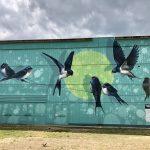 muralpaint fecske mural