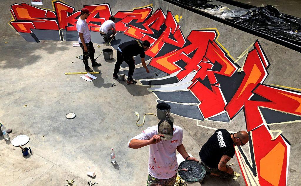 Neopaint skatepark festés