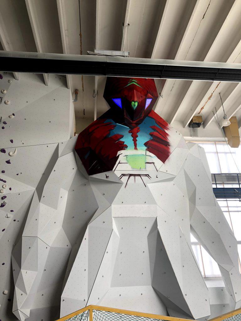 robot festmény