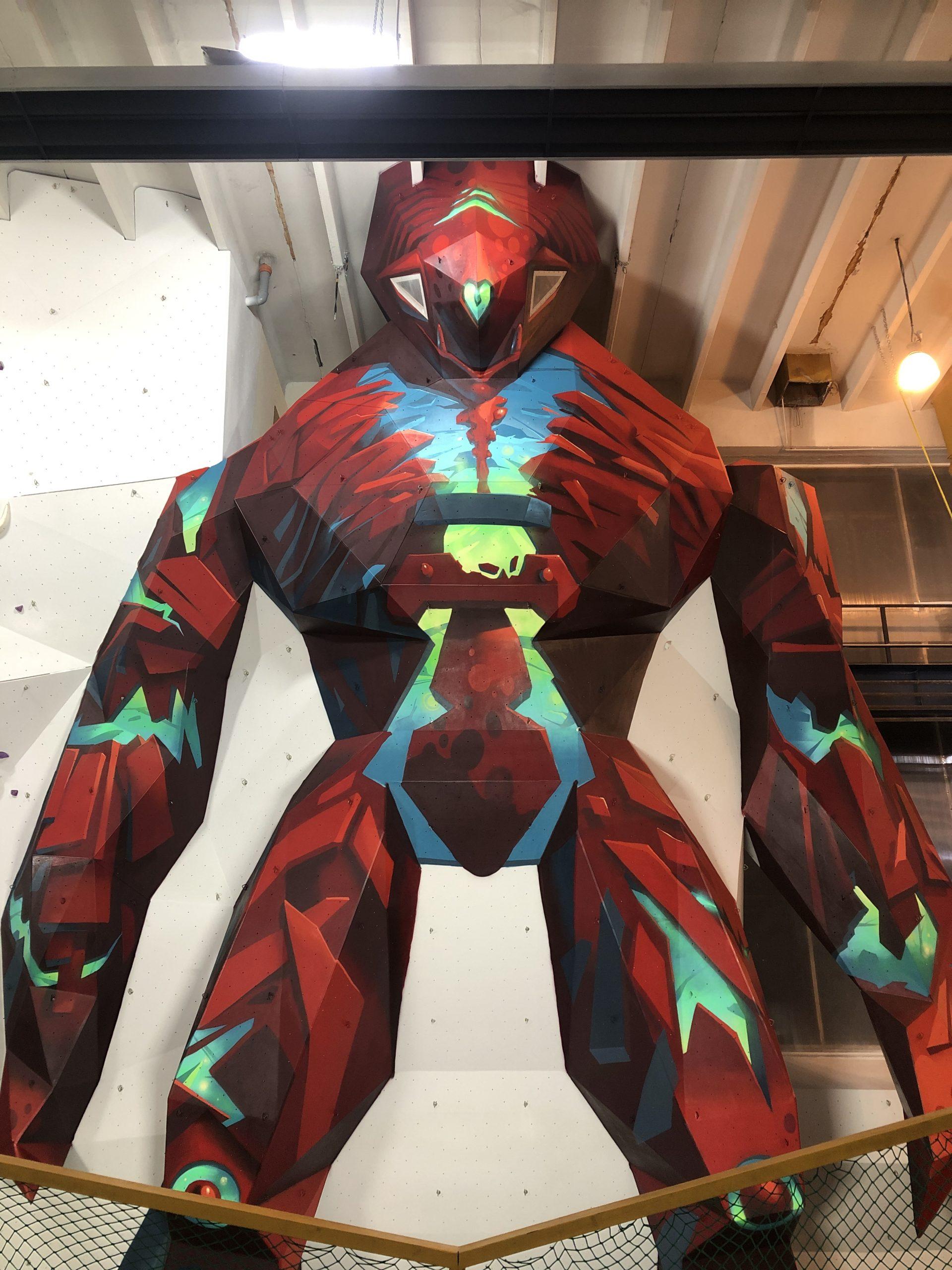 """Életre kelt óriási robot """"Titán"""" festmény"""
